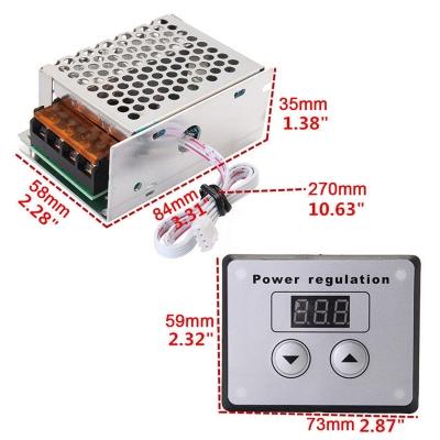 Bộ chiết áp (dimmer) điều chỉnh kỹ thuật số 4000W-220V cho quạt sưởi, ánh sáng, động cơ