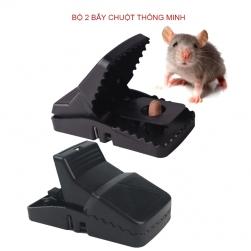 Bộ 2 bẫy chuột kẹp thông minh S1 vật liệu nhựa cứng