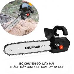 Bộ chuyển đổi máy mài góc thành máy cưa gỗ dạng xích 12 inch