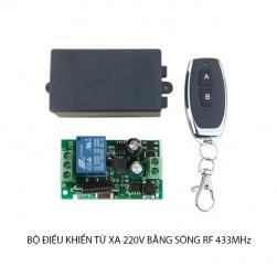 Bộ điều khiển từ xa 220V-10A sóng RF 433Mhz (Gồm tay điều khiển và 01 bộ nhận)