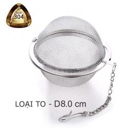 Dụng cụ lọc pha trà loại to hình cầu lưới làm bằng INOX SUS304 – đường kính 80mm