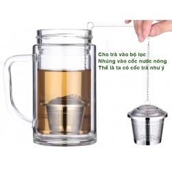 Bộ lọc pha trà đa năng 6x6,5cm làm bằng INOX SUS304