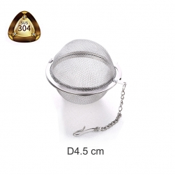 Dụng cụ lọc pha trà hình cầu làm bằng INOX 304 dạng lưới – loại trung đường kính 45mm