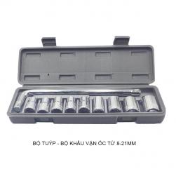 Bộ khẩu–tuýp mở siết ốc 10 chi tiết từ 8-21mm