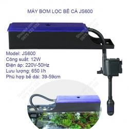 Bộ máy bơm lọc nước bể cá cảnh kiêm cung cấp khí JS600, bơm không chổi than 12W/220V