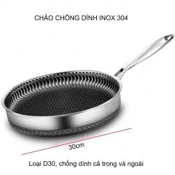 Chảo từ chống dính CX-030 bằng inox 304, loại D30cm