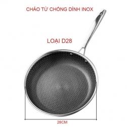 Chảo từ chống dính DT02 bằng inox, loại D28cm