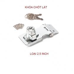 Chốt lật có khóa cho hòm, tủ, ngăn kéo bàn loại phẳng 2.5inch