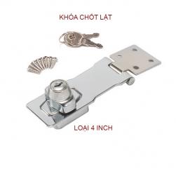 Chốt lật có khóa cho hòm, tủ, ngăn kéo bàn loại phẳng 4inch