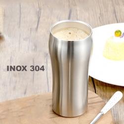 Cốc (ly) bằng inox 304 loại 2 lớp chống nóng 430ml dùng uống trà, cà phê, sữa