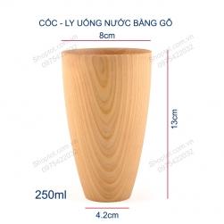 Cốc–Ly bằng gỗ thông B02 dùng uống nước, cà phê đa năng