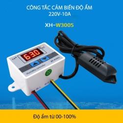 Công tắc cảm biến độ ẩm W3001-220V-10A với đầu cảm biến độ ẩm rời
