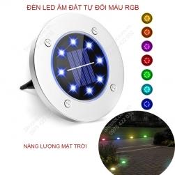 Đèn LED tự đổi màu RGB năng lượng mặt trời, 8 mắt led 0.8W cắm sân vườn ZC704