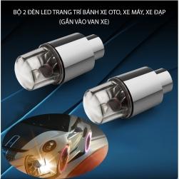 Bộ 2 đèn led đổi màu trang trí bánh xe ôtô, xe máy, xe đạp dùng 3 pin cúc AG10