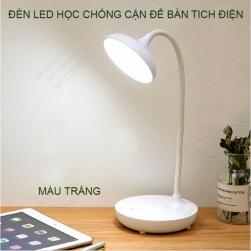 Đèn led học để bàn chống cận 7023, tích điện, ánh sáng 3 màu, có điều chỉnh độ sáng vô cấp