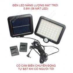 Đèn led năng lượng mặt trời L56M kèm cảm biến chuyển động loại 5.6W-56 mắt led có tán mờ