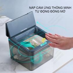 Hộp để đồ khử trùng bằng tia UV, nắp cảm biến thông minh tự động đóng mở