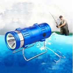 Đèn Pin LED câu cá đa năng 2x10W (1 đầu ánh sáng xanh 1 đầu ánh sáng trắng)