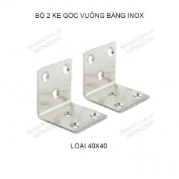 Bộ 2 ke góc vuông 40x40 dày 1.5mm bằng inox 201 không gỉ KGV.Inox
