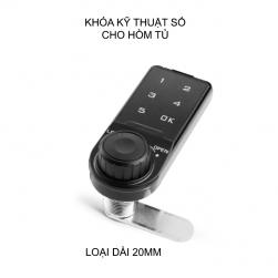 Khóa số điện tử KP-ER cho hòm tủ, ngăn kéo bàn tủ, có thể thay đổi mã số, loại dài 20mm