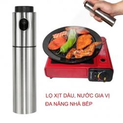 Lọ đựng và phun xịt dầu ăn, dấm, nước mắm… đa năng cho các món nướng, xào, vỏ inox 304
