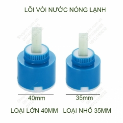 Lõi vòi nước nóng lạnh, dùng cho vòi chậu rửa lavabo, vòi chậu rửa bát, vòi sen tắm, loại 35mm hoặc 40mm tùy chọn