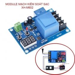 Module mạch kiểm soát và điều khiển tự động sạc bình ắc quy 6-96V có màn hình kỹ thuật số XH-M602
