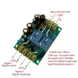 Mạch tự động chuyển đổi nguồn điện YX-Q01 220V-10A (ATS 220V-10A)