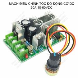 Module mạch điều chỉnh tốc độ động cơ điện 1 chiều 10V-60V/20A