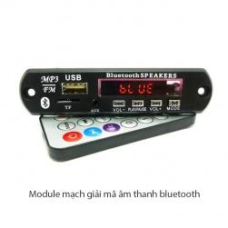 Module mạch giải mã âm thanh từ USB, thẻ nhớ, Line in, FM radio, kết nối Bluetooth kèm điều khiển từ xa (remote) – 12VDC