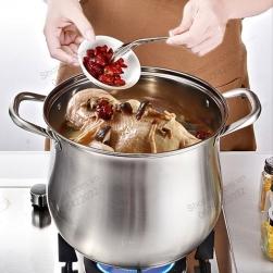 Nồi inox 304 sâu lòng NSLI304, chuyên luộc gà, nấu cháo, nấu canh loại D28cm