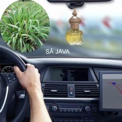 Tinh dầu nguyên chất 100% treo xe ô tô, treo tủ quần áo hình lục lăng hoặc táo, tinh dầu sả JAVA