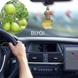 Tinh dầu nguyên chất 100% treo xe ô tô, treo tủ quần áo lọ hình táo hoặc lục lăng, tinh dầu Bưởi