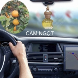 Tinh dầu nguyên chất 100% treo xe ô tô, treo tủ quần lọ áo hình táo hoặc lục lăng, tinh dầu Cam ngọt