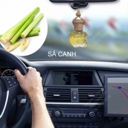 Tinh dầu nguyên chất 100% treo xe ô tô, treo tủ quần áo hình táo hoặc lục lăng, tinh dầu Sả chanh