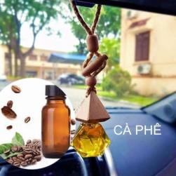 Tinh dầu nguyên chất 100% treo xe ô tô, treo tủ quần áo với lọ hình táo hoặc lục lăng, tinh dầu Cà phê