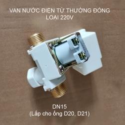 Van nước điện từ thường đóng loại 220V-TS1013, ren ngoài DN15-G1/2 (loại tốt)