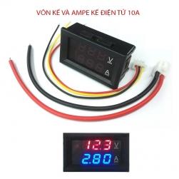 Đông hồ đo Vôn kế 0-100V và Ampe kế 10A