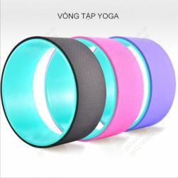 Vòng tập Yoga, vòng tập lưng bằng nhựa ABS và bề mặt TPE, đường kính 33cm, rộng 13cm