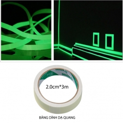 Bang keo dạ quang 2cm3m (phát sáng vào ban đêm)
