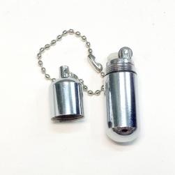 Bật lửa móc khóa mini đá xăng AM055 vỏ Inox sáng bóng