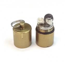 Bật lửa móc khóa mini đá xăng HY618 vỏ hợp kim