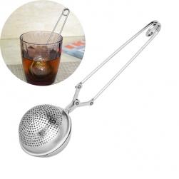 Dụng cụ lọc pha trà có tay kẹp hình cầu D5cm làm bằng INOX đục lỗ