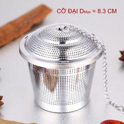 Bộ lọc pha trà hình trụ tròn loại đại 8.3x8cm - làm bằng Inox SUS 304 an toàn tuyệt đối