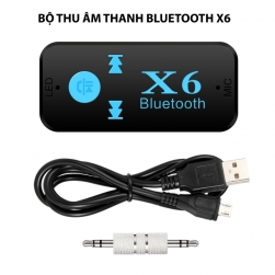 Bộ thu âm thanh Bluetooth BT-X6 kiêm phát nhạc từ thẻ nhớ và có micro