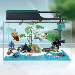 Bộ máy bơm lọc nước bể cá cảnh kiêm cung cấp khí LS600, bơm không chổi than 10W/220V
