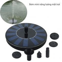 Máy bơm chìm mini kèm tấm pin mặt trời hình tròn gắn liền JT160F1 cho đài phum nước mini, bể cảnh.