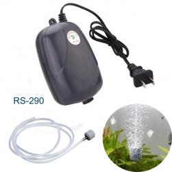 Máy bơm sủi tạo khí oxy cho bể cá cảnh loại 01 đầu RS290 (loại nhỏ màu đen)