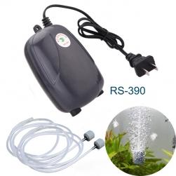Máy bơm sủi tạo khí oxy cho bể cá cảnh loại 02 đầu RS390 (màu đen)
