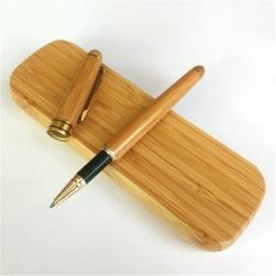 Bút ký mực bi (cây viết) vỏ tre kèm hộp tre